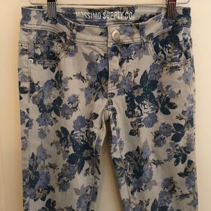 Mossimo Flowered Skinny Jeans
